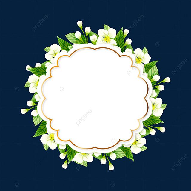 flower shaped jasmine flower border
