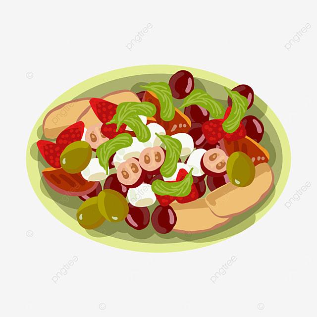 fresh fruit salad clipart