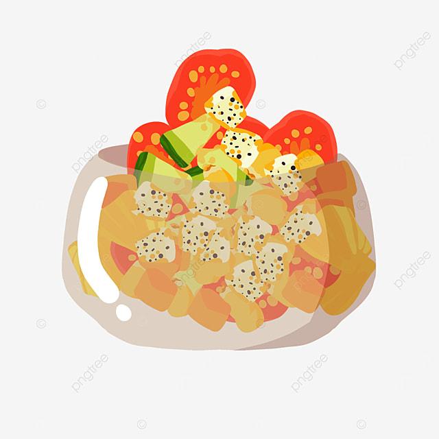 fruit cheese salad clip art