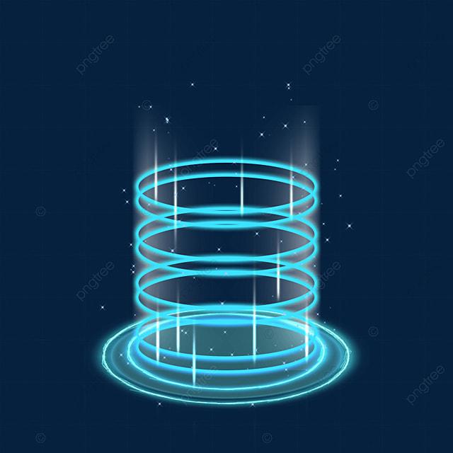 futuristic blue circle sci fi magic light effect