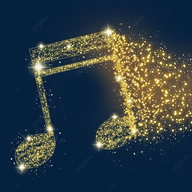 golden eight two beat music luminous light effect particles