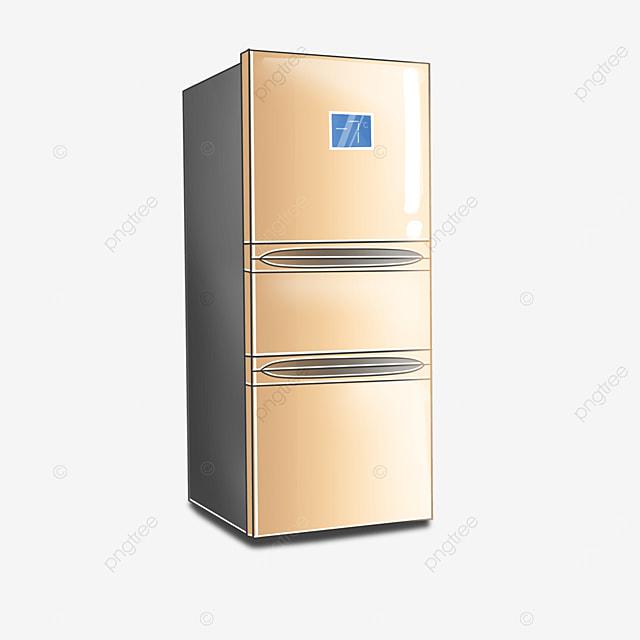 golden large refrigerator clip art