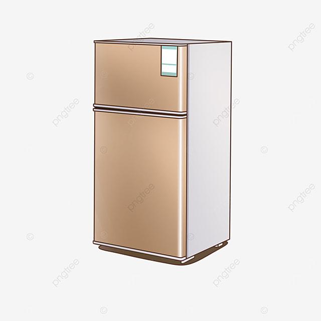 golden small refrigerator clip art