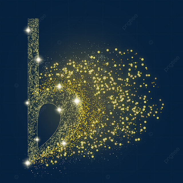 golden transparent falling sign music luminous light effect particles
