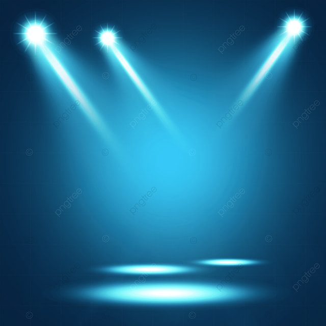 gradient blue stage color spotlight