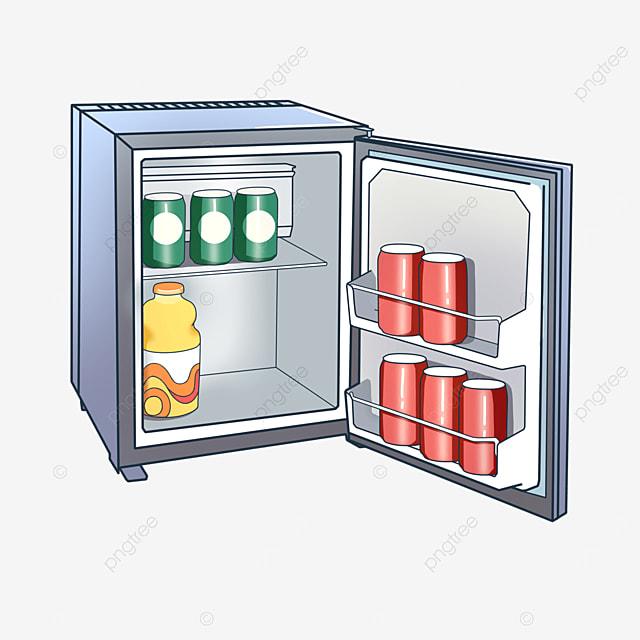 gray can fridge clip art