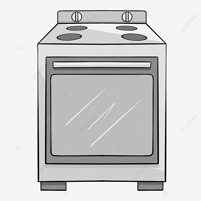gray line kitchen oven clip art