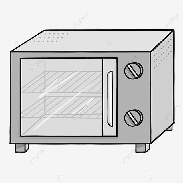 gray line shelf oven clipart