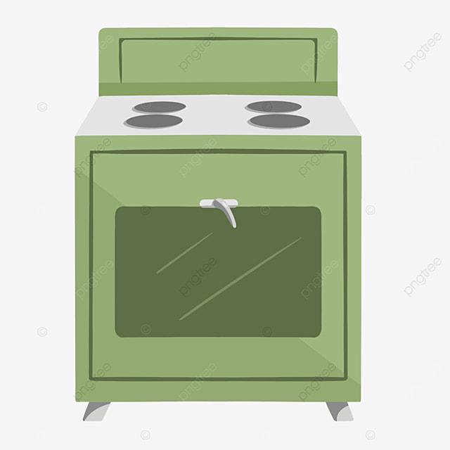 green cartoon simple oven clipart