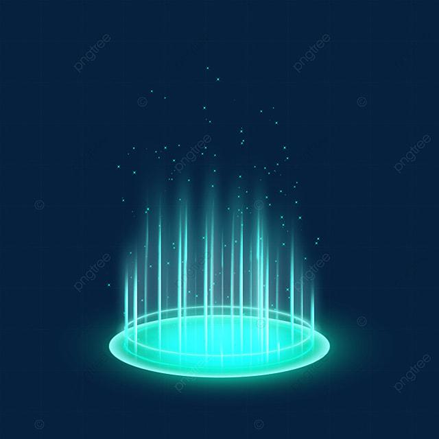 green gradient sci fi magic light effect