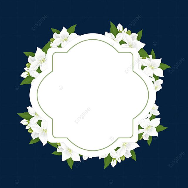 green jasmine flower border