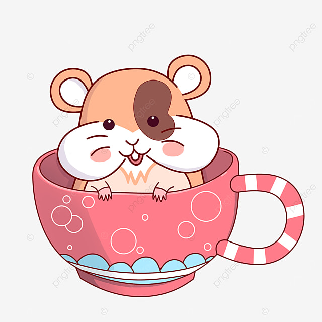 hamster in a teacup clipart