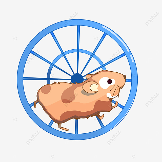 hamster playing with roller clipart