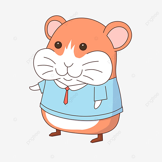 hamster wearing clothes clipart