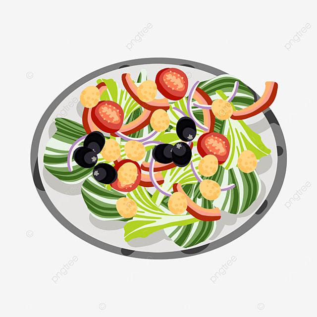 homemade reduced fat salad clip art