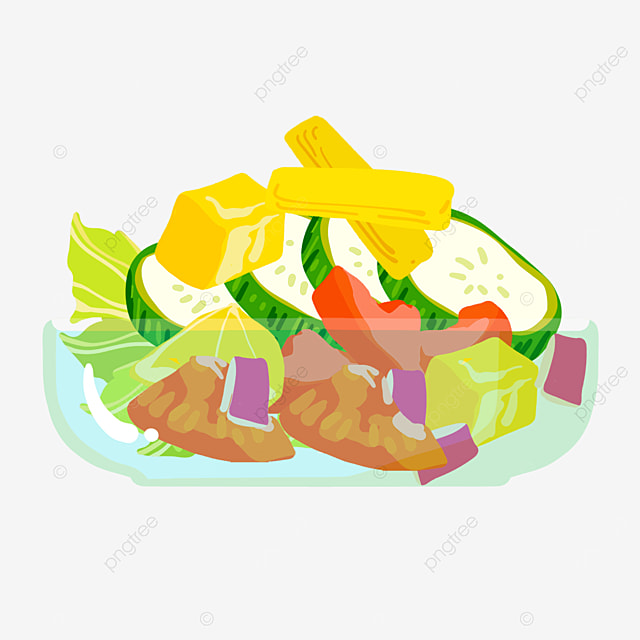 light and refreshing salad clipart