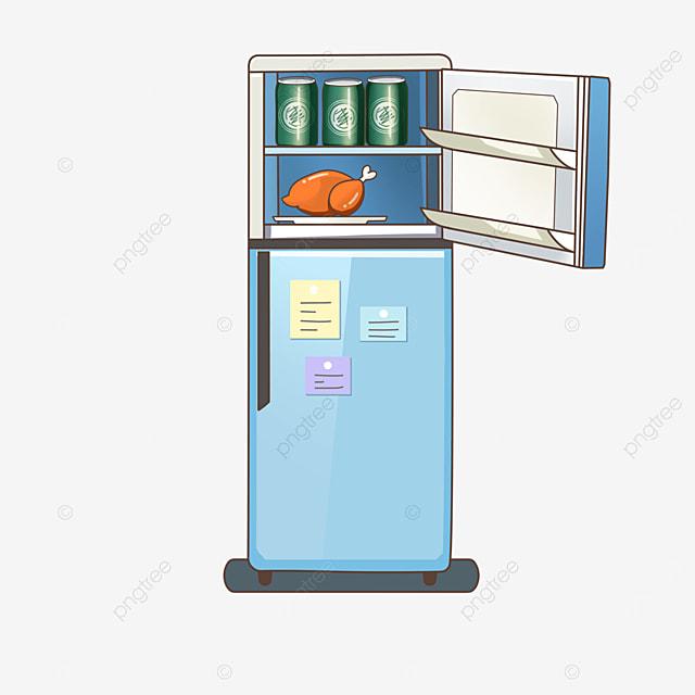 light blue refrigerator clipart