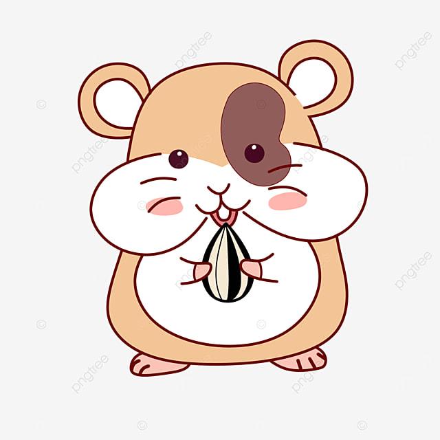 light brown hamster clip art