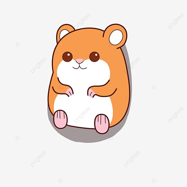 little brown hamster clip art