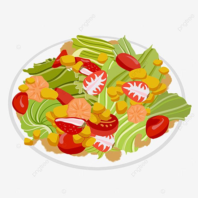 low calorie food salad clipart