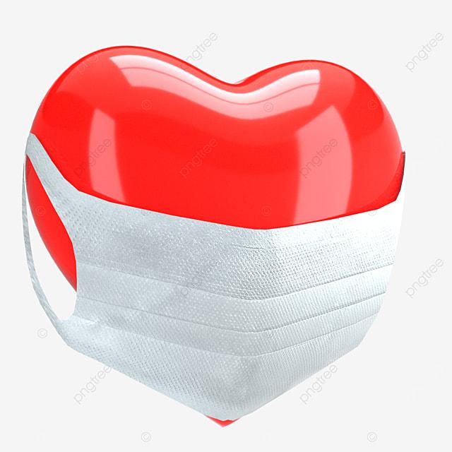 mask antivirus heart shape
