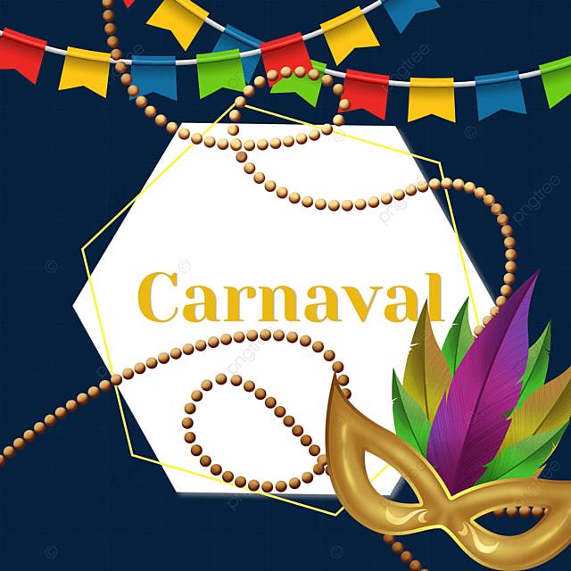 mask brazilian carnival festival round border
