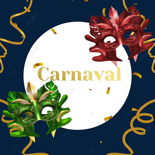 mask ribbon brazilian carnival festival border