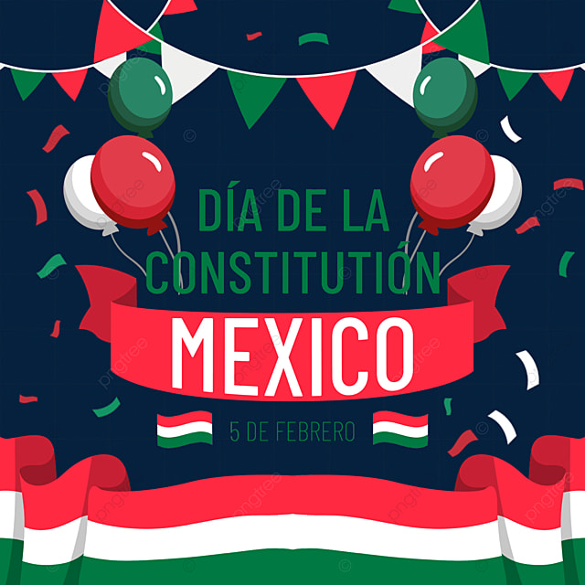 mexican constitution day banner balloon decoration