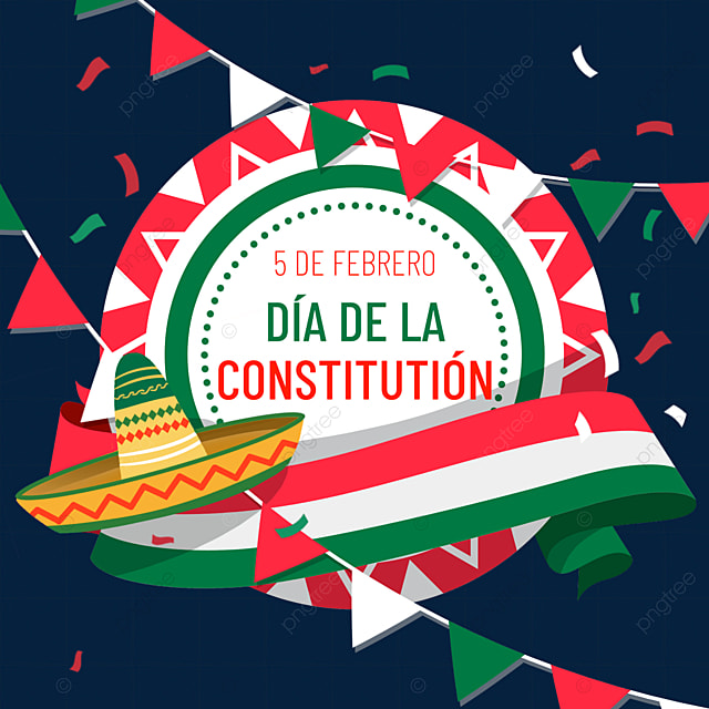 mexican constitution day bunting decoration
