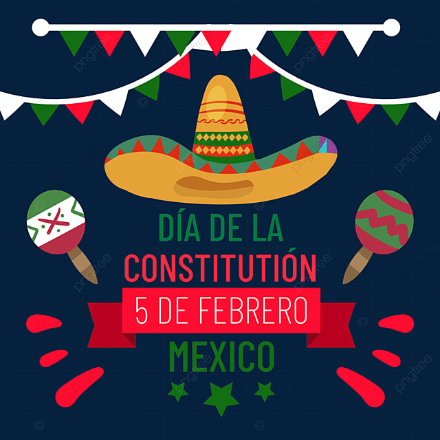 mexican constitution day colorful flag decoration