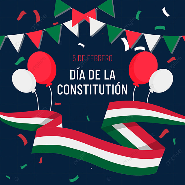 mexican constitution day creative ribbon