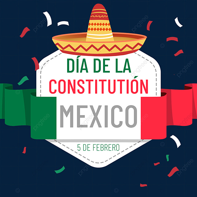 mexican constitution day geometric creative streamer
