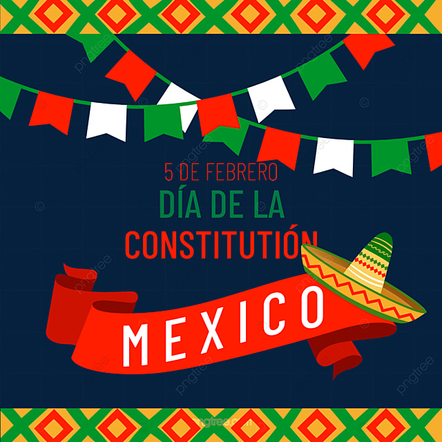 mexican constitution day geometric decoration