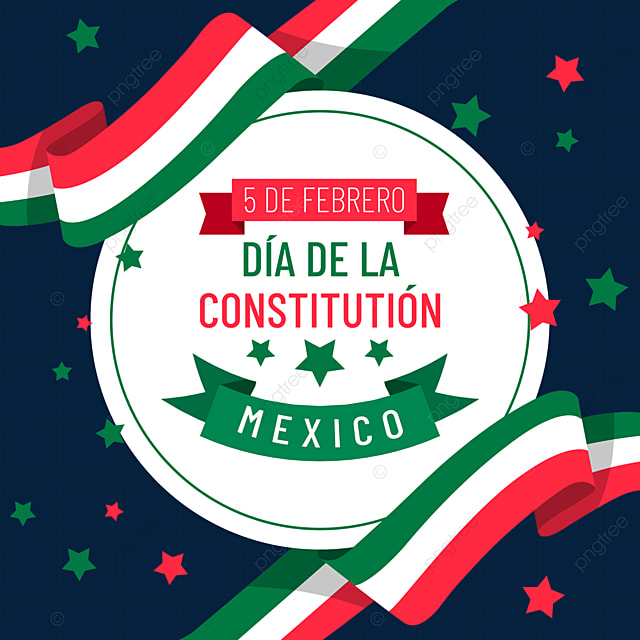 mexican constitution day red green ribbon