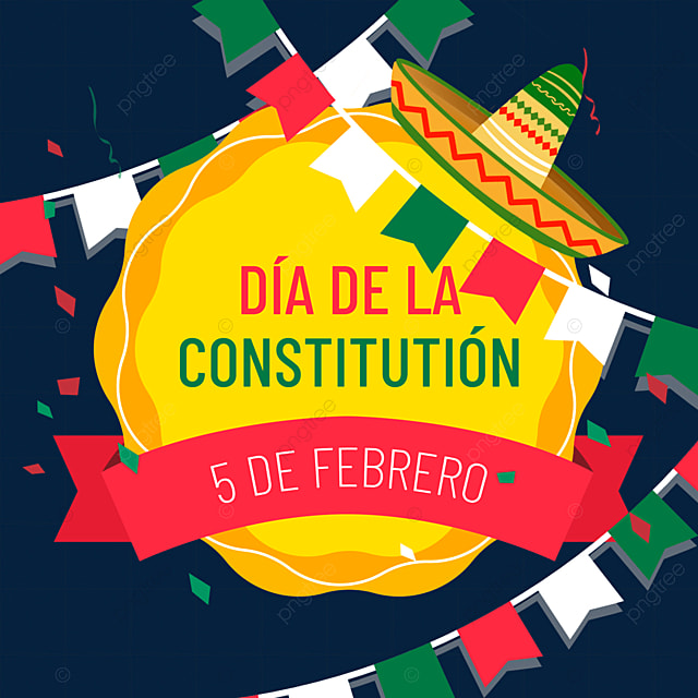 mexican constitution day yellow border decoration