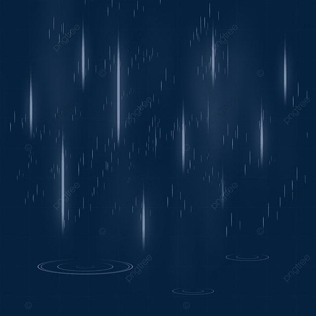 mild raindrops on a rainy day