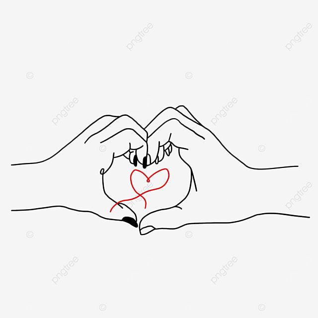 minimalist valentines day line drawing