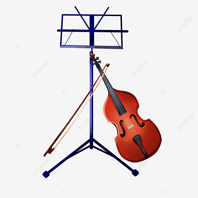 music score shelf relies on bowed stringed instrument equipment violin clipart