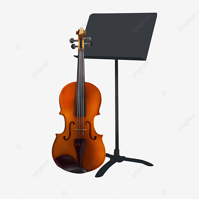 musical instrument equipment combination sheet music shelf and violin clipart