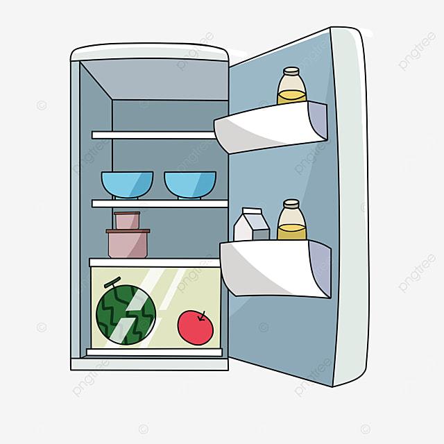 open refrigerator clipart