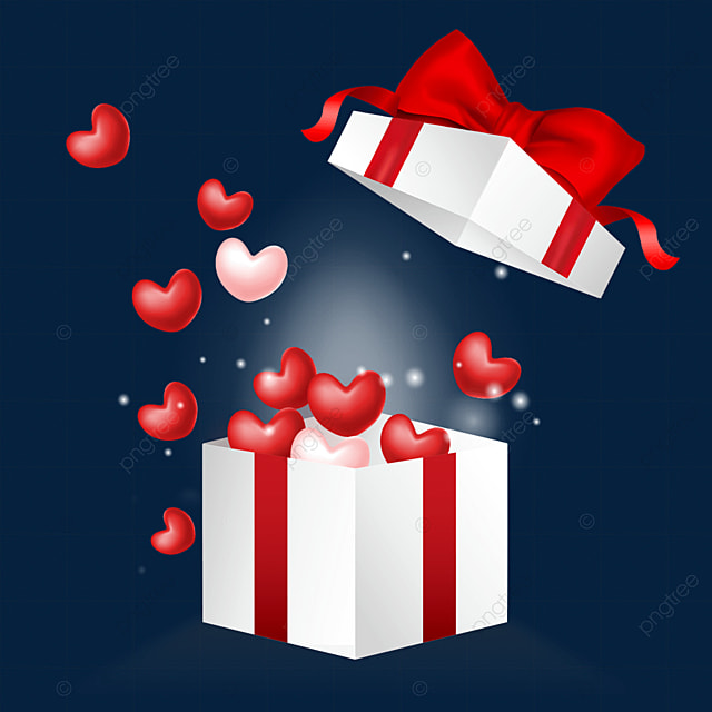 open the bow decoration love box valentines day