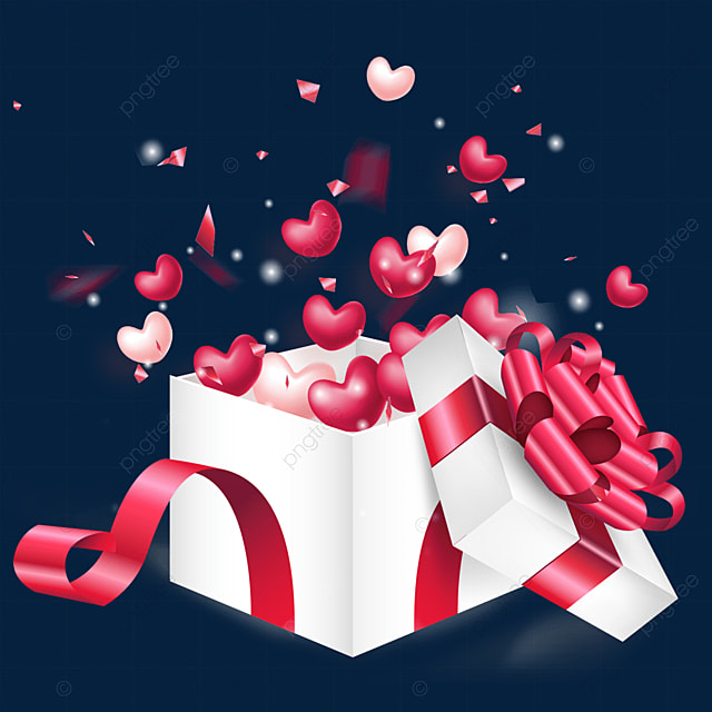 open the gorgeous love box for valentines day