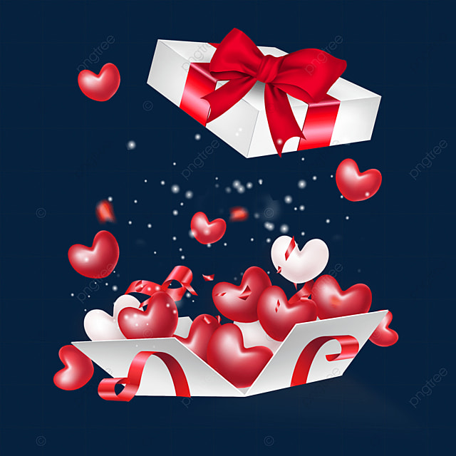 open the love box for valentines day and texture wind love
