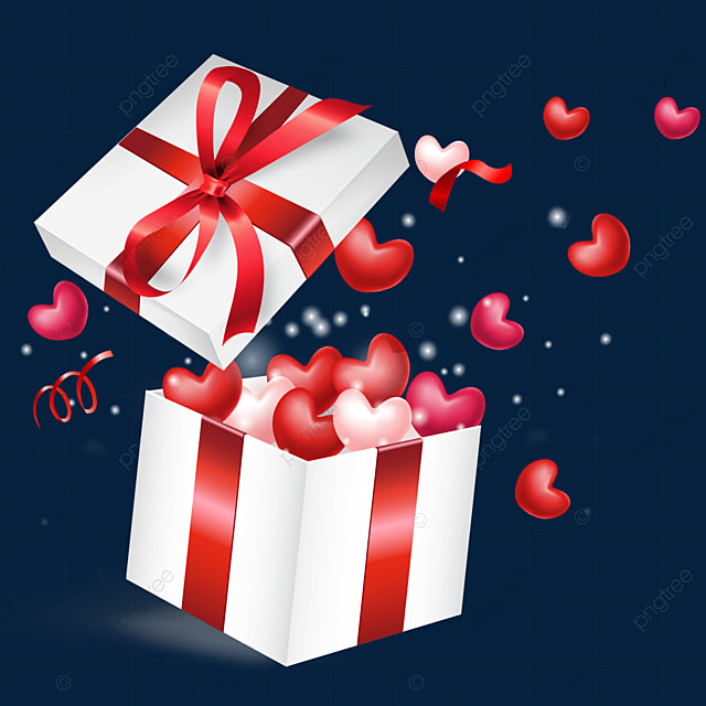 open the love box valentines day pink and red love hearts