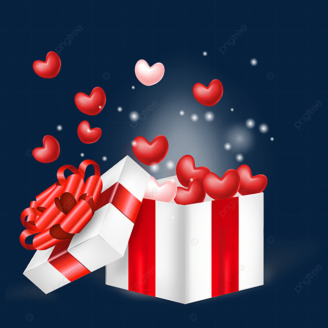 open the love real texture box valentines day