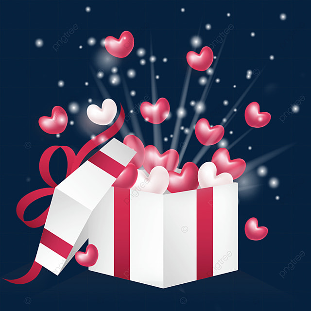 open the love three dimensional gift box for valentines day
