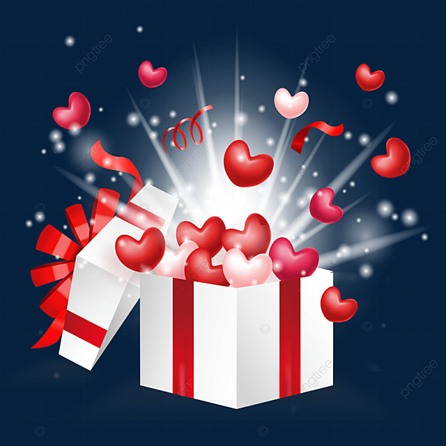 open the red ornate love box for valentines day