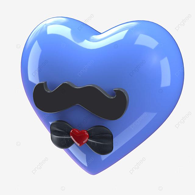 personality funny beard bow tie heart