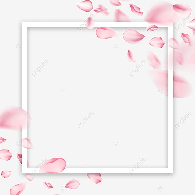 petal spring sakura square border