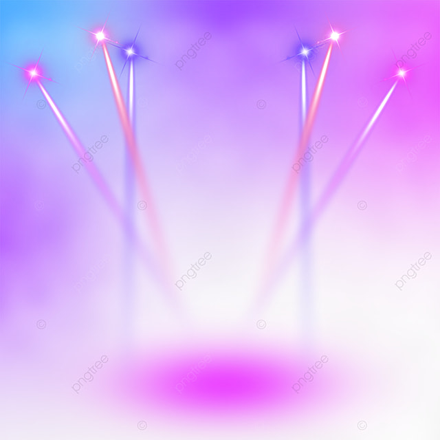 pink and blue gradient stage colorful spotlights